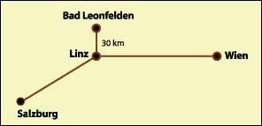 Karte von Badleonfelden (30km von LInz)