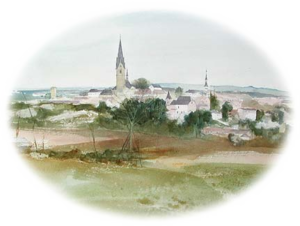 Aquarell: Bad Leonfelden